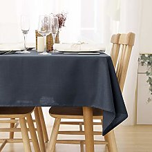 Deconovo Wipeable Tablecloth Rectangle Faux Linen