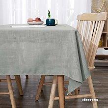 Deconovo Wipeable Tablecloth Rectangle Table Cloth