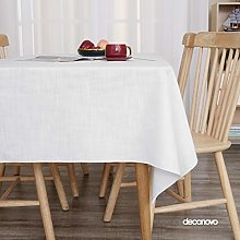 Deconovo Wipeable Tablecloth Rectangle Tablecloth