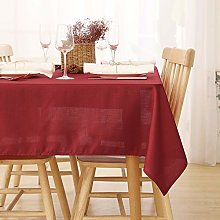 Deconovo Wipeable Tablecloth Water Resistant Faux