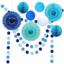 Decor365 10pcs Under The Sea Theme Blue Party