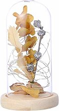 Decoration & Hangs, Leaf Branch With Lamp Glass