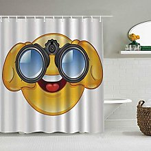 Decoration Shower Curtain,with A Telescope
