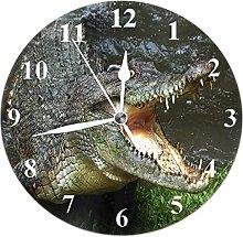 Decoration Wall Clock Round Wall Clock Crocodile
