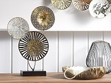 Decorative Accent Piece Gold and Silver Metal 44