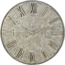 Decorative Aged Effect Grey Metal False Clock D160