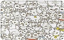 Decorative Bathroom Floor Rug,Funny Characters