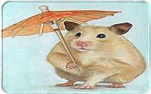 Decorative Bathroom Floor Rug,Hamster With