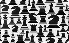 Decorative Bathroom Floor Rug,With Chess