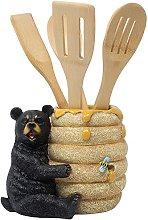 Decorative Black Bear in a Beehive Honey Pot