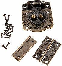 Decorative Cabinet Jewelry Box Latch Hasps 2Pcs