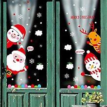Decorative Cartoon Christmas Door Stickers