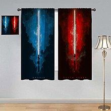 Decorative Curtain Star Wars Lightsaber Curtains,