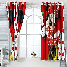 Decorative Curtains Mic-key Min-nie Mouse Curtains