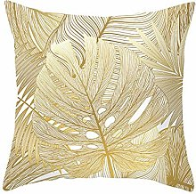 Decorative Cushion Golden Leaf Cushion Cover