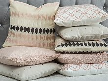 Decorative Cushion Pink Drop Pattern Geometric 45