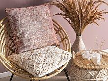 Decorative Cushion Pink Oriental Pattern 45 x 45