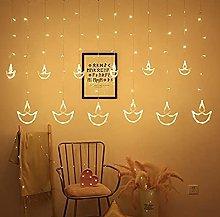 Decorative Diya Diwali Light Curtain, String