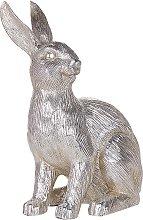 Decorative Figurine Silver Festive Easter Bunny