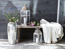 Decorative Floor Vase Silver Terracotta 48 cm