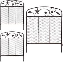 decorative garden fencing, lawn edging, set of 3,