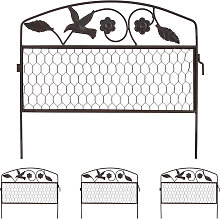 decorative garden fencing, set of 4 small fence