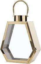Decorative Geometric Candle Lantern Lamp Glass