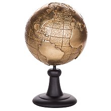 Decorative Globe Gold EARTH