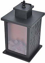 Decorative Lanterns Fake Flame Fireplace Lantern