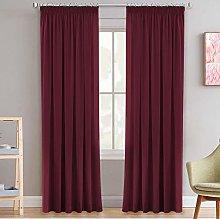 Decorative Pencil Pleat Blackout Curtain Drapes
