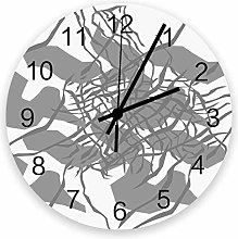Decorative Round Wall Clock Abstract