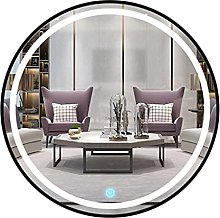 Decorative Round Wall Mirror with LED Light,