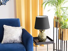 Decorative Table Lamp Gold with Black Ceramic