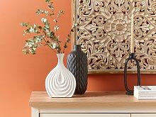 Decorative Table Vase White Porcelain Carved