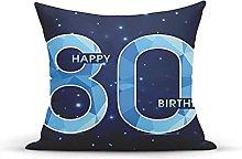 Decorative Throw Pillow Cover Case,Age 80 Yeras