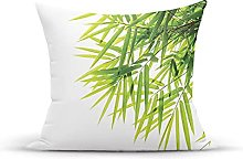 Decorative Throw Pillow Cover Case,Bamboo Leaf