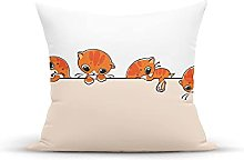 Decorative Throw Pillow Cover Case,Banner with