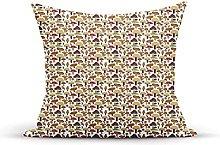 Decorative Throw Pillow Cover Case,Continuous