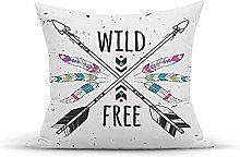 Decorative Throw Pillow Cover Case,Crossed Arrows