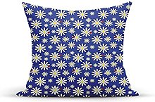 Decorative Throw Pillow Cover Case,Daisies Pattern