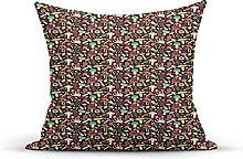 Decorative Throw Pillow Cover Case,Dark Toned