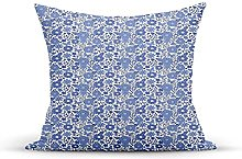 Decorative Throw Pillow Cover Case,Delft Style
