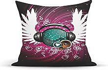 Decorative Throw Pillow Cover Case,Disco Ball with