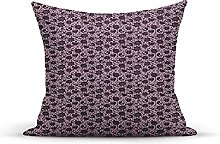 Decorative Throw Pillow Cover Case,Doodle Abstract