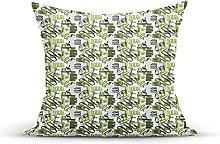 Decorative Throw Pillow Cover Case,Doodle Pastel