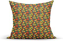 Decorative Throw Pillow Cover Case,Doodle Style