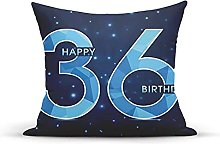 Decorative Throw Pillow Cover Case,Dots Star Space
