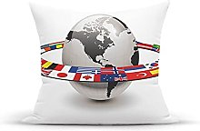Decorative Throw Pillow Cover Case,Earth Planet