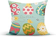 Decorative Throw Pillow Cover Case,Easter Eggs