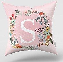 Decorative Throw Pillow Covers 26 English Alphabet